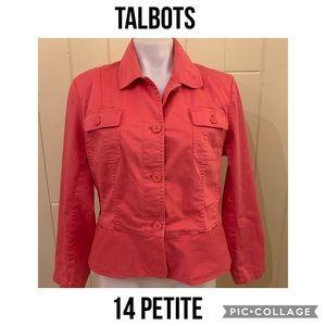 Talbots Cute Blazer Lightweight Jacket